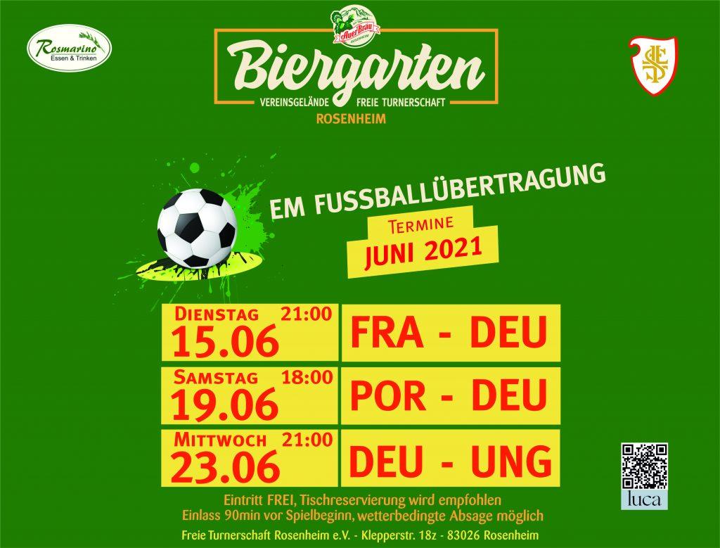 Rosenheimer Sommer Biergarten Fur Kultur Und Fussball Em Freie Turnerschaft Rosenheim E V